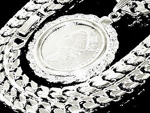 プラチナ貨幣・ネックレス